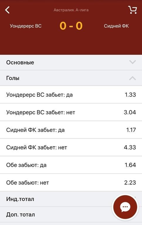 Мобильная версия букмекерской конторы Олимп